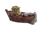 AquaWorld Fishing Boat Red 14.5x6.5x7cm-ornaments-The Pet Centre