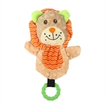Snuggle Friends Puppy Lion W Teether-soft-toys-The Pet Centre