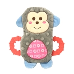 Snuggle Friends Puppy Monkey W Teether-soft-toys-The Pet Centre