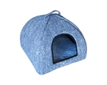 Cattitude Igloo Woven Grey Sml-cat-The Pet Centre