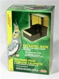 Cockatiel Deluxe Outside Bird Bath-accessories-The Pet Centre