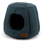 Cattitude Dome Igloo Petrol Blue-cat-The Pet Centre