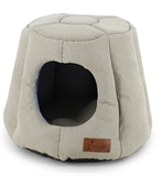 Cattitude Dome Igloo Cream-cat-The Pet Centre