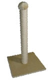 Tigga Cat Scratch Pole 74cm Cream-scratch-posts-The Pet Centre